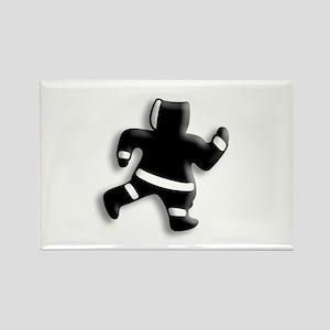 Run Away, little Eskimo Man Rectangle Magnet
