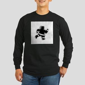 Run Away, little Eskimo Man Long Sleeve Dark T-Shi