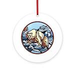 Polar Bear Art Ornament Keepsake Wildlife Painting