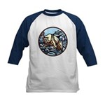 Polar Bear Art Kids Baseball Jersey Wildlife Art
