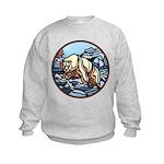 Polar Bear Art Kids Sweatshirt Wildlife Painting