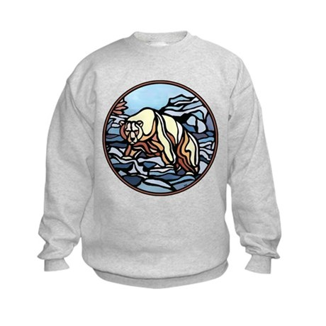 Polar Bear Art Kids Sweatshirt Wildlife Painting