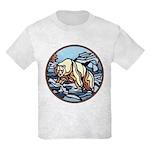 Polar Bear Art Kids T-Shirt Cool Wildlife Design