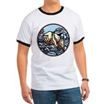 Polar Bear Art Ringer T-Shirt Wildlife Design