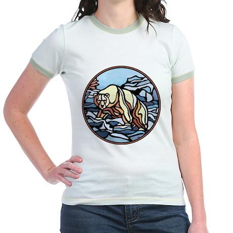Polar Bear Art Jr. Ringer T-Shirt Wildlife Paintin