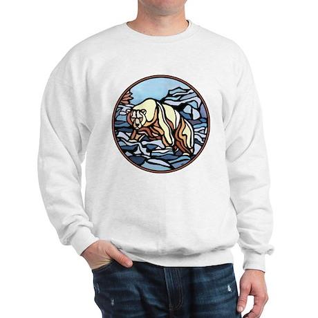Polar Bear Art Sweatshirt Wildlife Painting