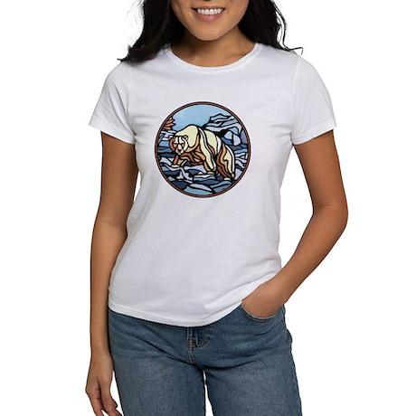 Polar Bear Art Women's T-Shirt Wildlife Painting