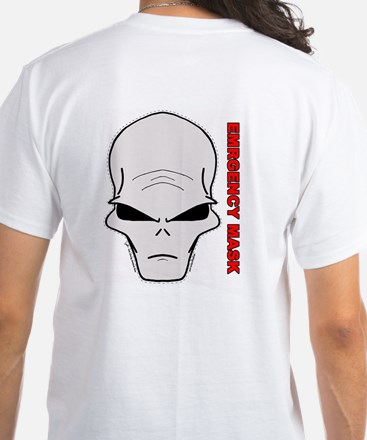Emergency mask - Alien White T-Shirt