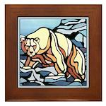 Polar Bear Art Framed Tile Wildlife Painting