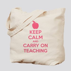 Keep calm and carry on teaching Tote Bag