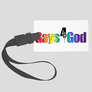Gays4God2.0 Large Luggage Tag