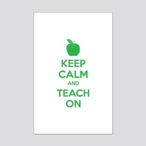 Keep calm and teach on Mini Poster Print