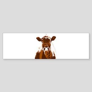 Brown Cow Farm Animal Bumper Sticker