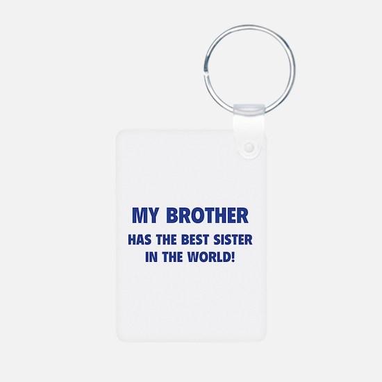 My Brother Aluminum Photo Keychain
