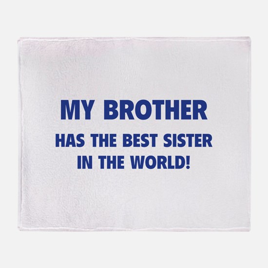 My Brother Throw Blanket