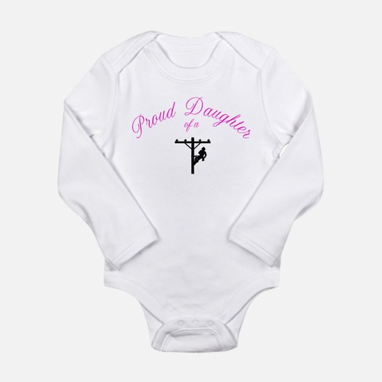 Pround daughter of a lineman Body Suit