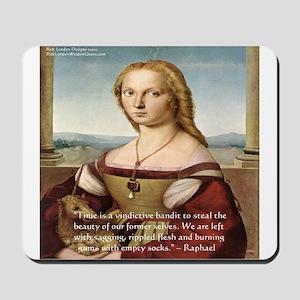 Raphaels Woman With A Unicorn Mousepad