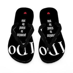90ed1a23dd1a9 Bride And Groom Flip Flops - CafePress