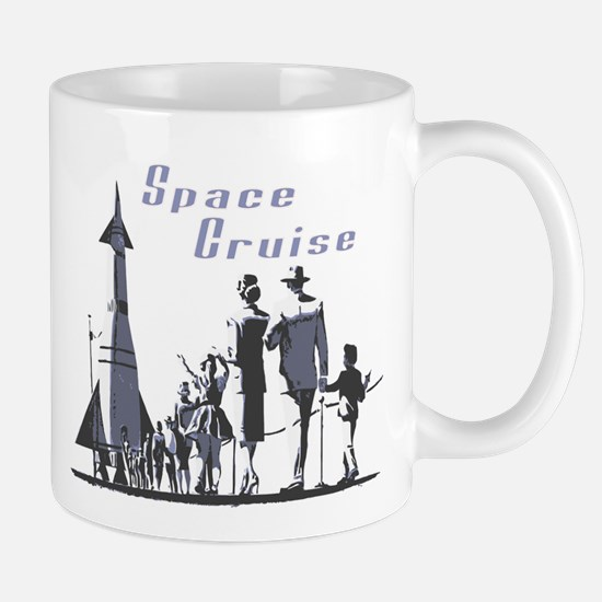 Space Cruise scifi vintage Mug