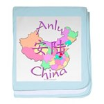 Anlu China Map baby blanket
