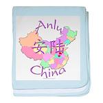 Anlu China Map baby blanket