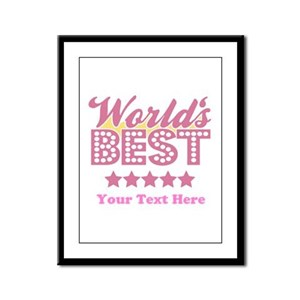 Customize Worlds Best Framed Panel Print