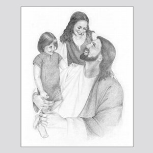 Jesus W/ the children Small Poster