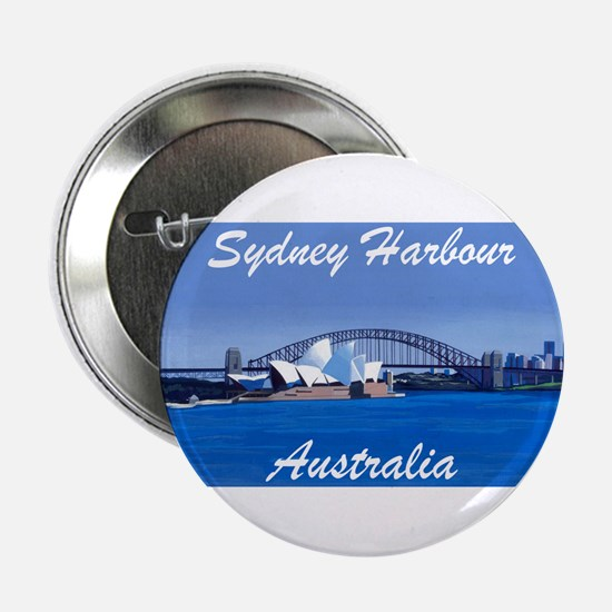 Sydney Harbour Painting Button/Badge