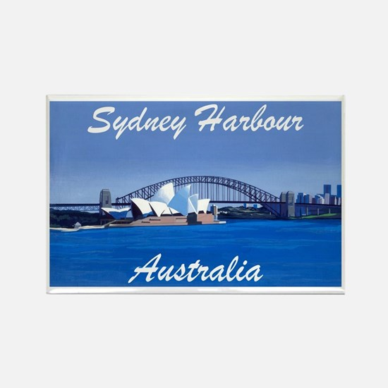 Sydney Harbour Painting Rectangle Magnet