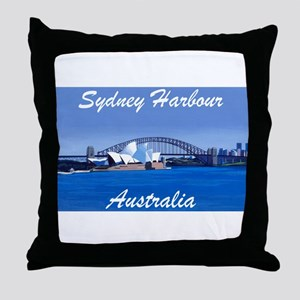 Sydney Harbour Painting Throw Pillow