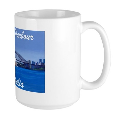 Sydney Harbour Painting Large Mug