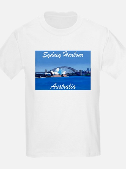 Sydney Harbour Painting Kids T-Shirt