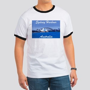 Sydney Harbour Painting Ringer Tee