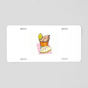 Ice Cream Aluminum License Plate