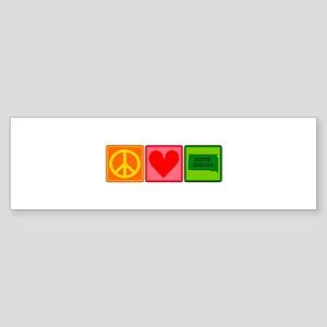 Peace Love South Dakota Sticker (Bumper)