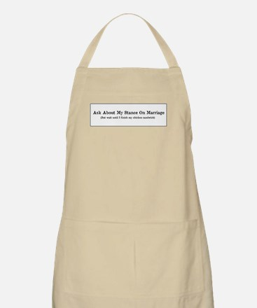 Marriage Stance Apron