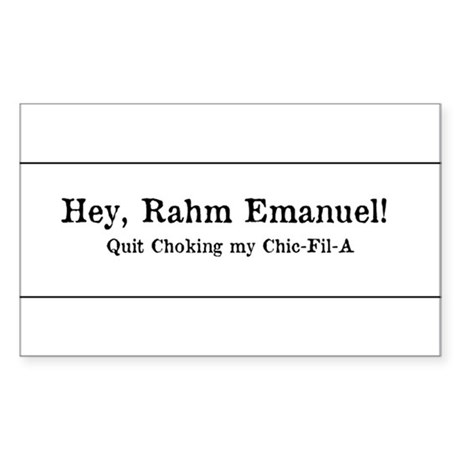 Rahm is Choking What?!? Sticker (Rectangle)