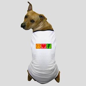 Peace Love Vermont Dog T-Shirt