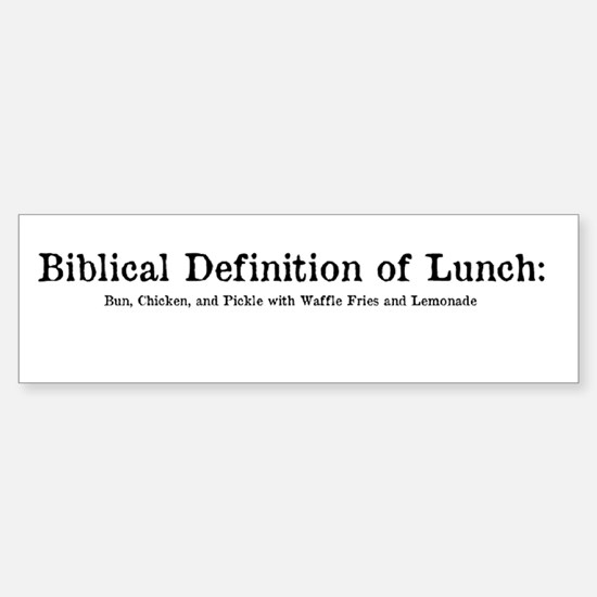 Biblical Definition of Lunch Sticker (Bumper)