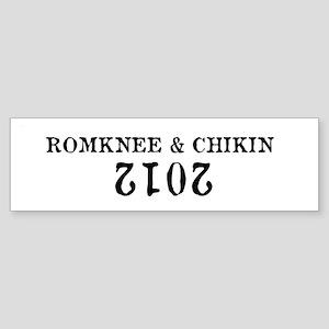 Romknee & Chikin 2012 Sticker (Bumper)