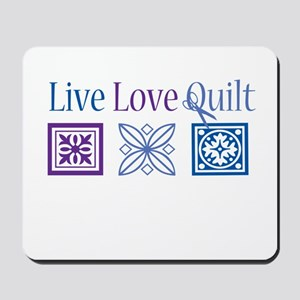 Live Love Quilt Mousepad
