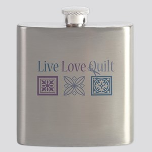 Live Love Quilt Flask