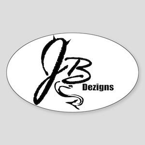 JB Dezigns Logo Sticker (Oval)