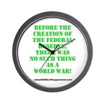The Federal Reserve and World War Wall Clock