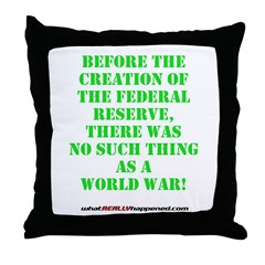 The Federal Reserve and World War Throw Pillow