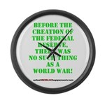 The Federal Reserve and World War Large Wall Clock