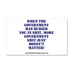 Government buries Car Magnet 20 x 12