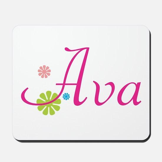 Ava Flowers Mousepad