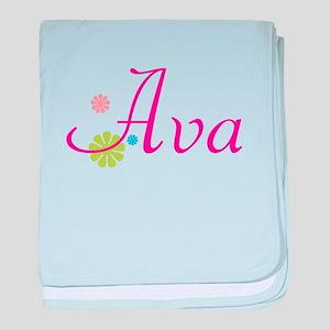 Ava Flowers baby blanket