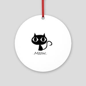 Meow. Ornament (Round)